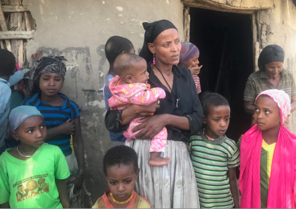 UNICEF's social cash transfer program makes it possible for this mother in Halaba, Ethiopia to enjoy paid maternity leave and keep her three school-aged children in school.