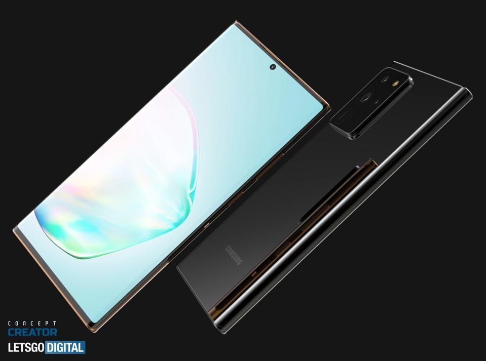 Galaxy Note 20 Ultra concept renders (Let's Go Digital / Concept Creator)