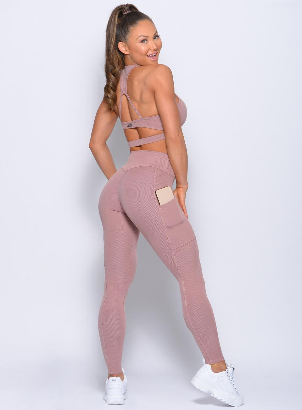 Lounge Rib Pocket Leggings - Mauve