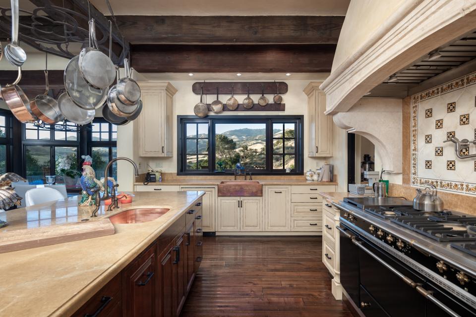 Rancho Latigo, Santa Ynez Valley, kitchen, oven, range Compass