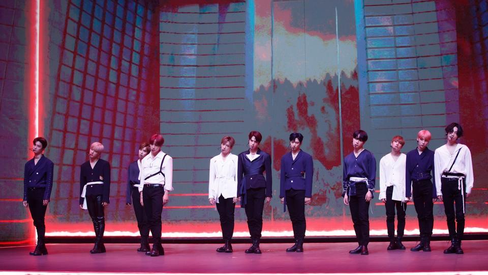 The Boyz perform at KCON:TACT 2020 SUMMER in Seoul, Korea digital festival, courtesy of CJ