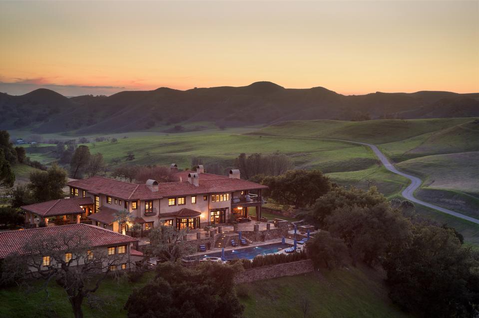 Rancho Latigo, Santa Ynez Valley, California, equestrian, horses, hacienda, mountains, Santa Barbara, Compass