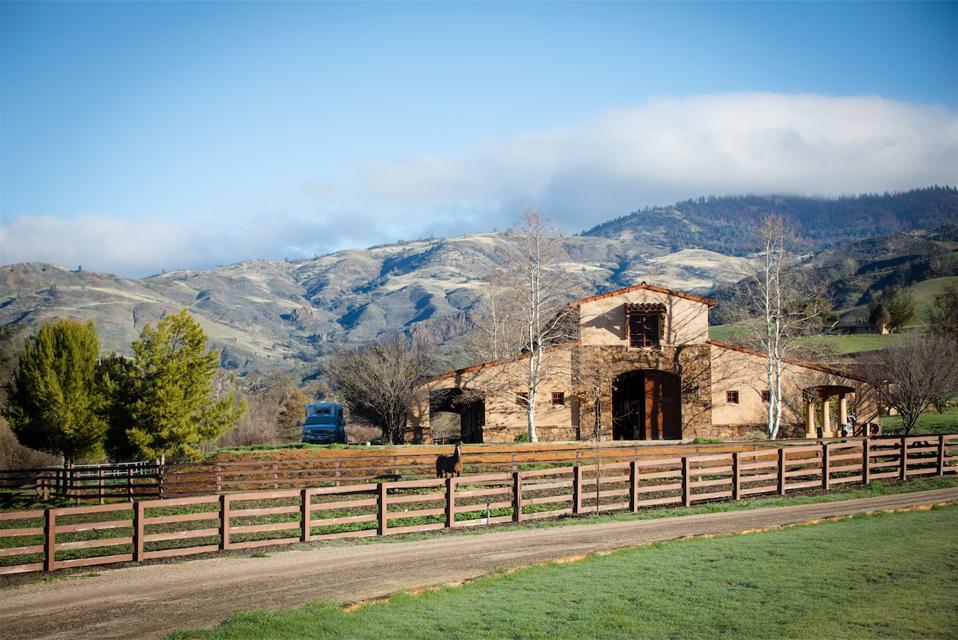 Rancho Latigo, Santa Ynez, California, barn, Compass