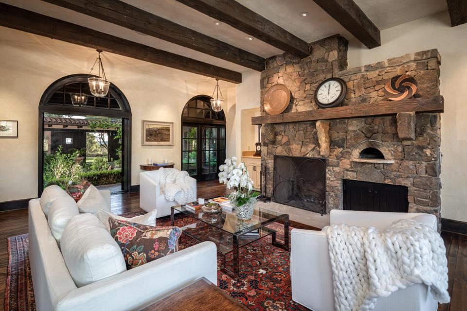 Rancho Latigo, Santa Ynez, California, fireplaces, rustic, contemporary, beams