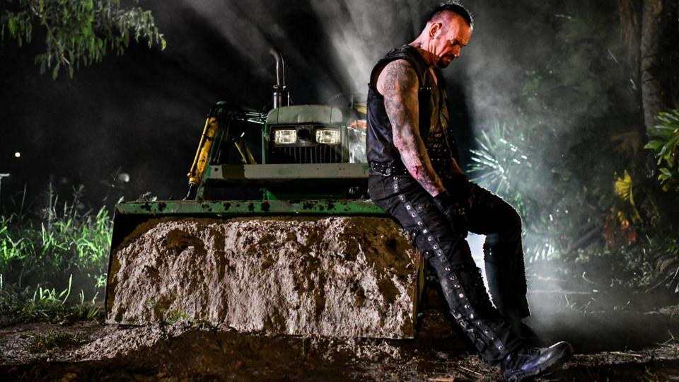 The Undertaker in ″the boneyard.″