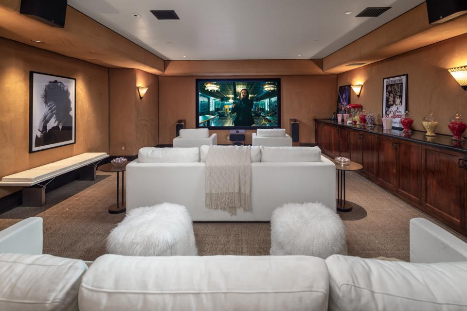 Movie theater, luxury real estate