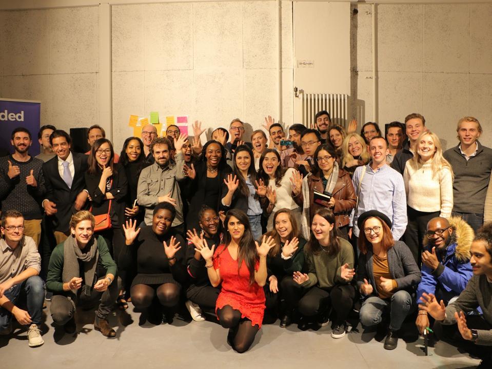 Nikita Thakrar with the fellowship cohort