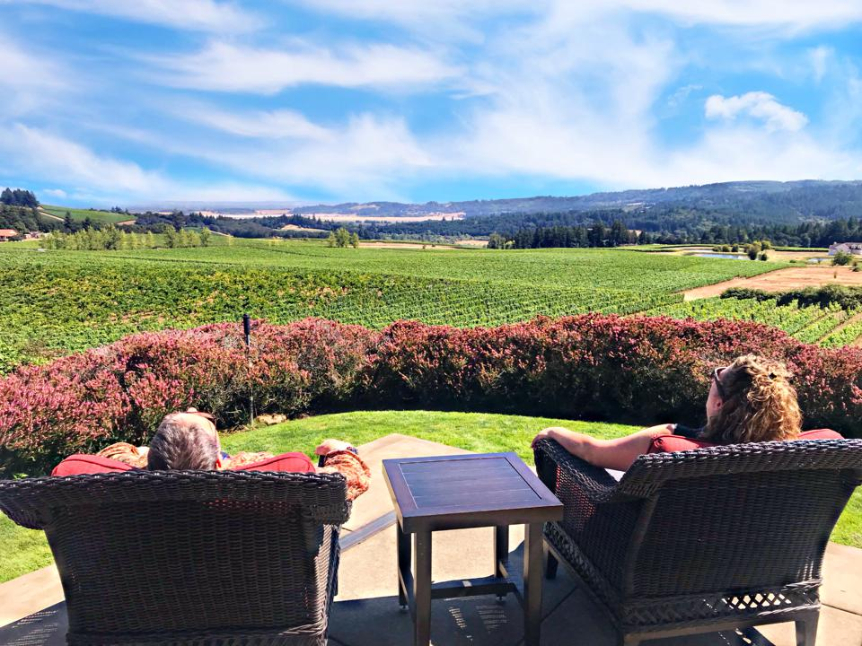 A View of Willamette Valley's Eola-Amity Hills AVA from Bethel Heights Winery