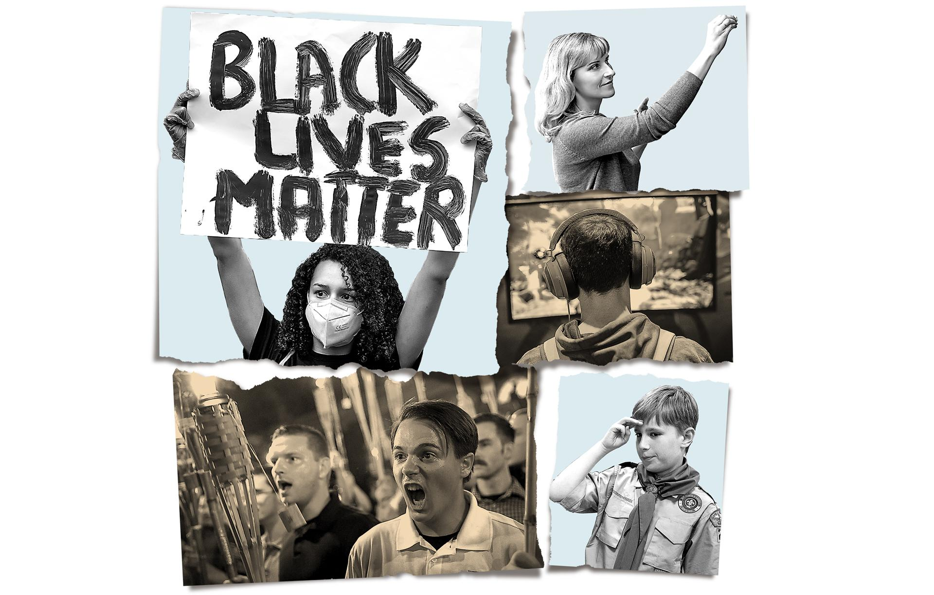 Discord  Black Lives Matters protesters, teachers and Boy Scouts.