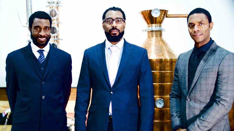 Bryson, Victor and Chris Yarborugh of Brough Brothers Distillery in Louisville, Kentucky