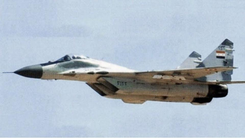 Syrian Air Force MiG-29 fighter jet.