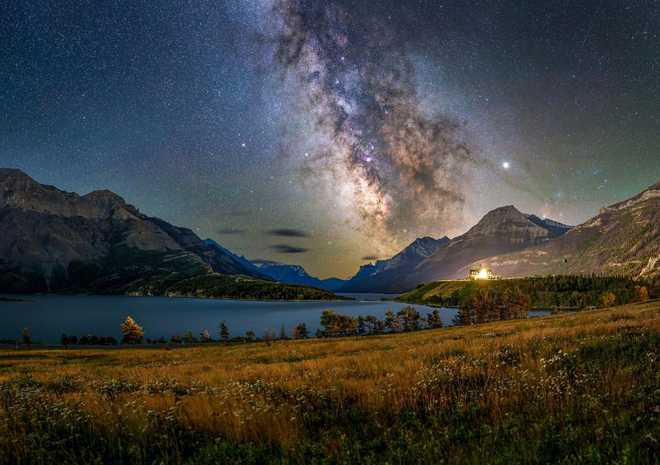 The Galactic Core above Waterton-Glacier International Dark Sky Park.