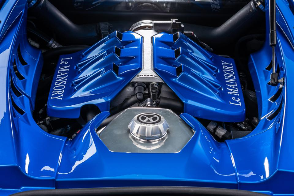 The Le Mansory engine is identical to the Ford GT's Le Mans-winning motor.