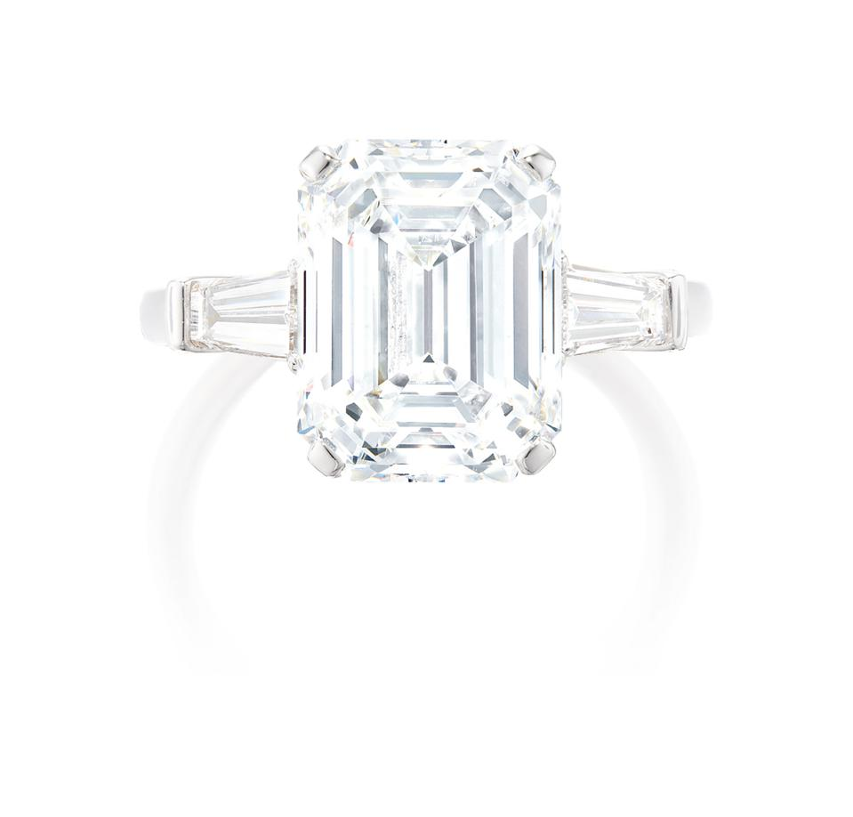 A Graff 6.18 carat diamond ring with an estimate of $165,000 - $230,000