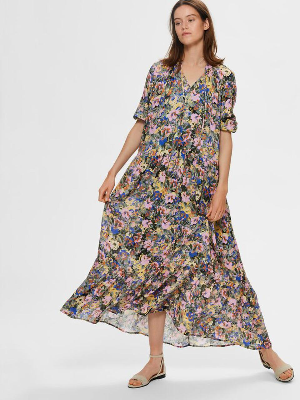 Floral Maxi Dress by Selected Femme: