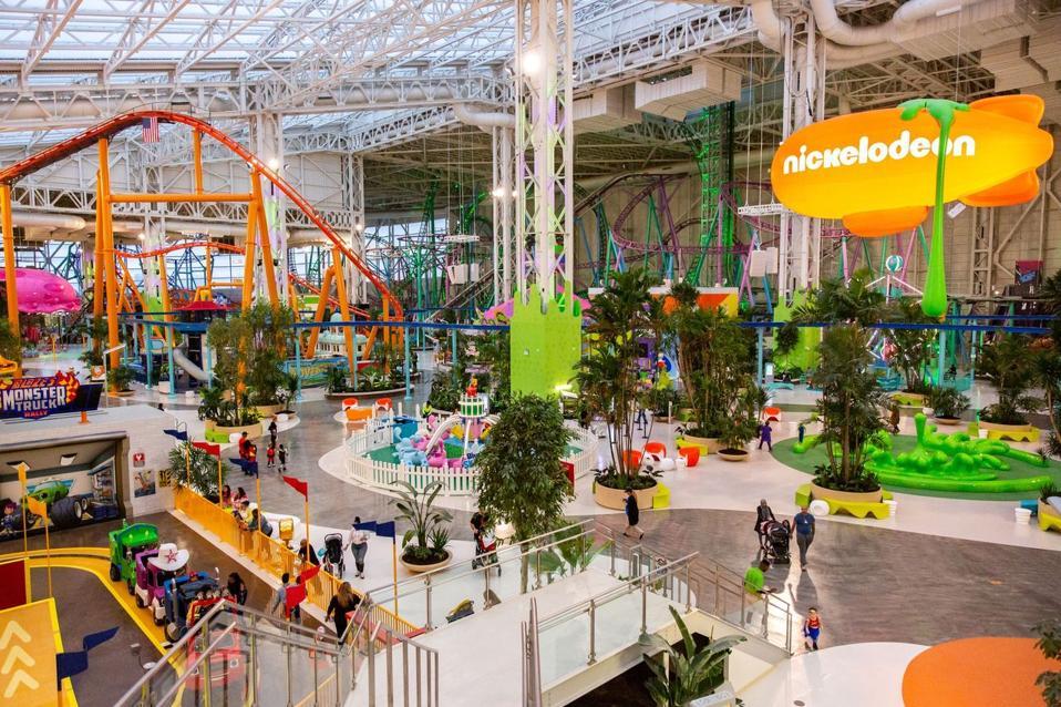 Nickelodeon amusement park at American Dream Ultimate Entertainment Center