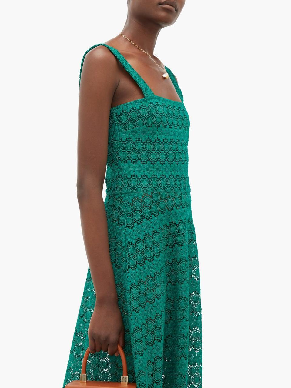 Lucinda Macramé-Lace Maxi Dress by Gioia Bini: