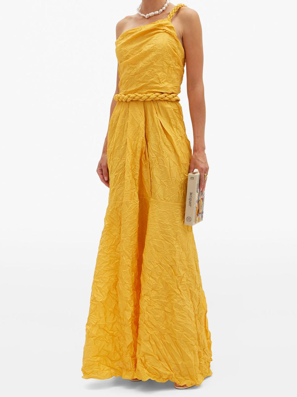 Le Carolina One-Shoulder Silk-Blend Taffeta Dress by Johanna Ortiz: