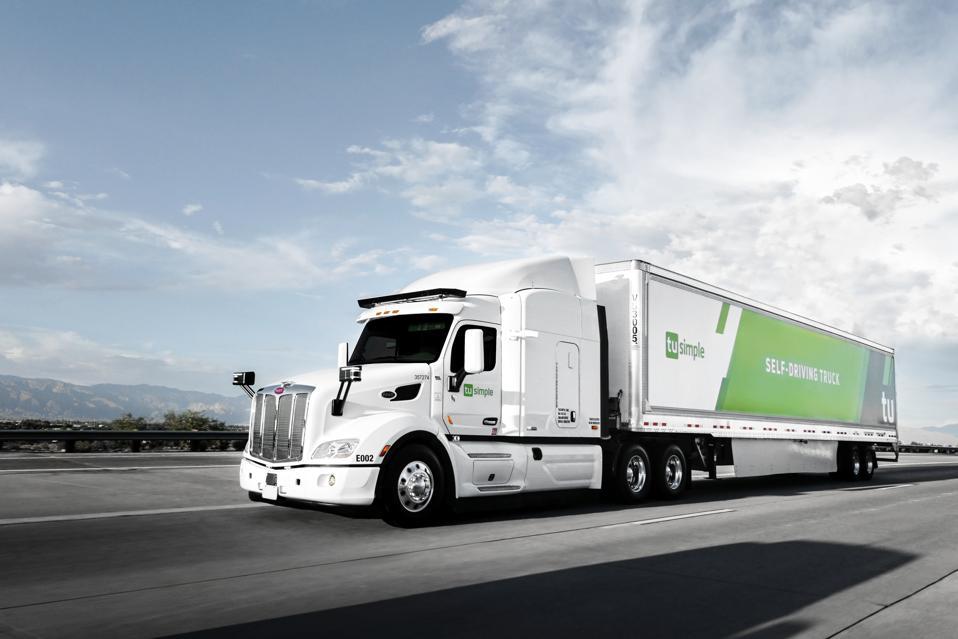 TuSimple robot truck Autonomous Freight Network