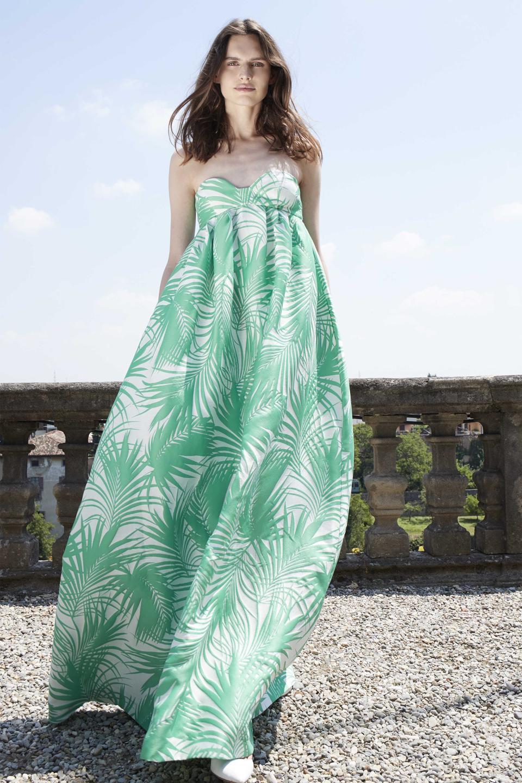 Jacquard Long Dress by Sara Battaglia