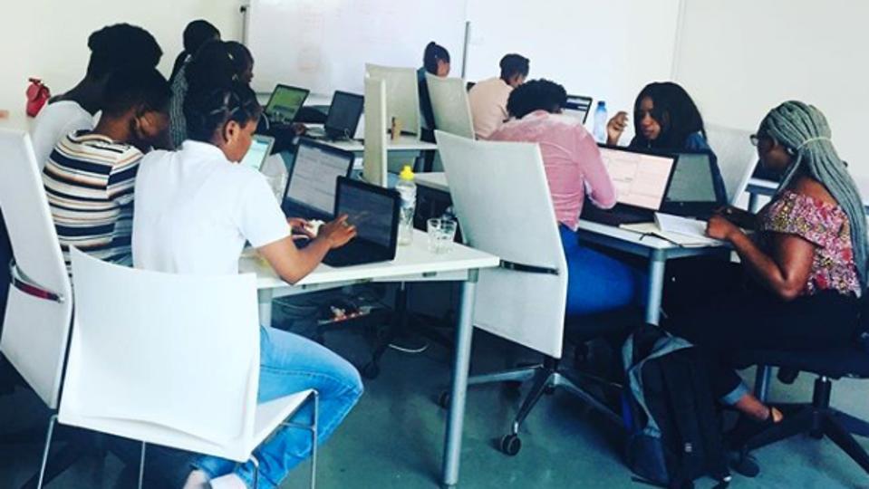 Pink Codrs Data Science workshop at Jozihub in Johannesburg, South Africa