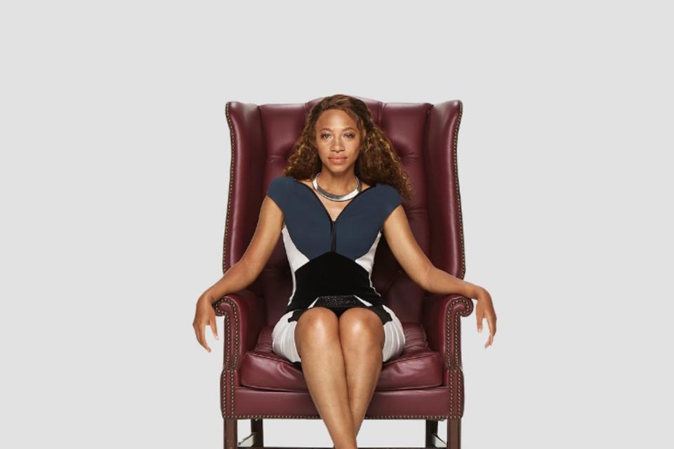 Misti Cain Sitting In Chair