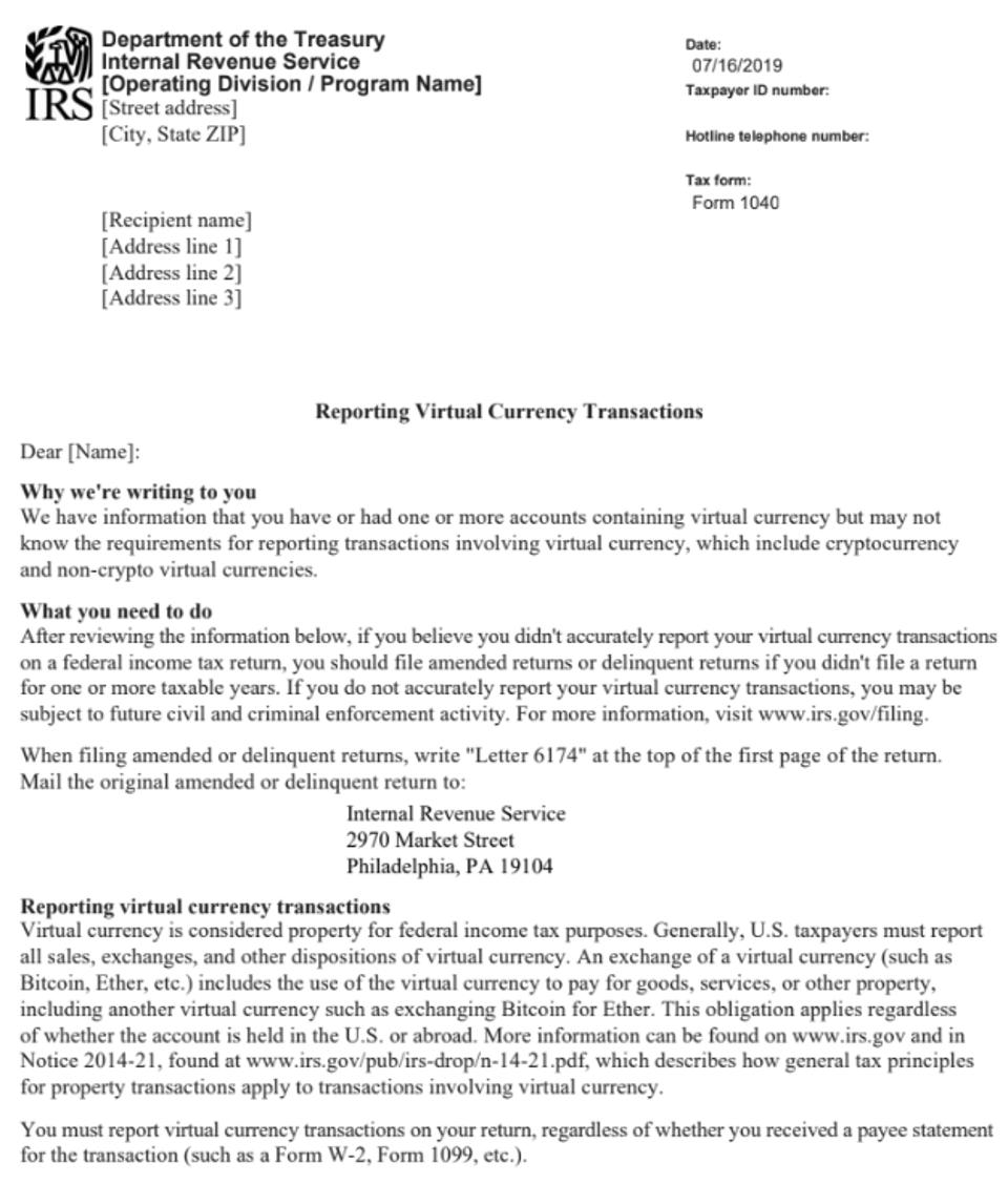 IRS Letter 6174