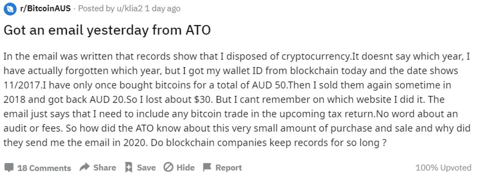 ATO crypto warning letter receipt