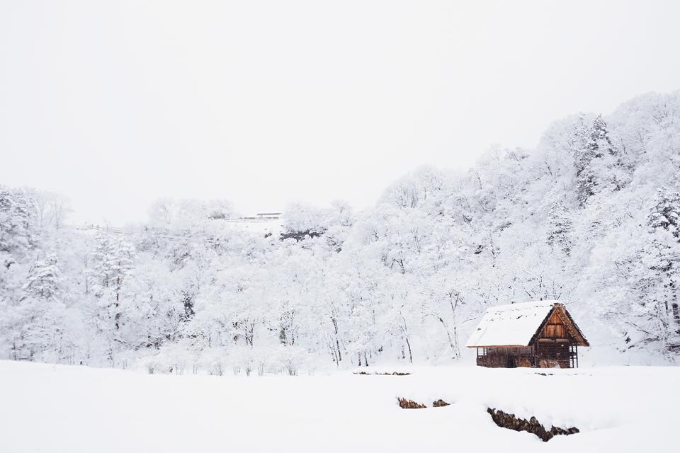 Isolated houses are in vogue, like this log cabin winter retreat