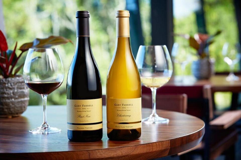 two bottles of wine, virtual tasting, California