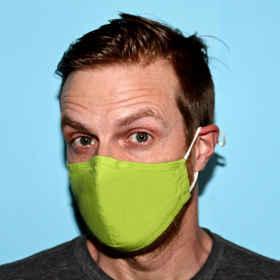 etee's buy one, donate one masks are made with organic cotton and have adjustable loops for a perfect face fit.