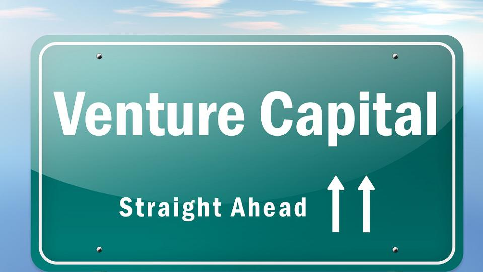 Highway Signpost ″Venture Capital″