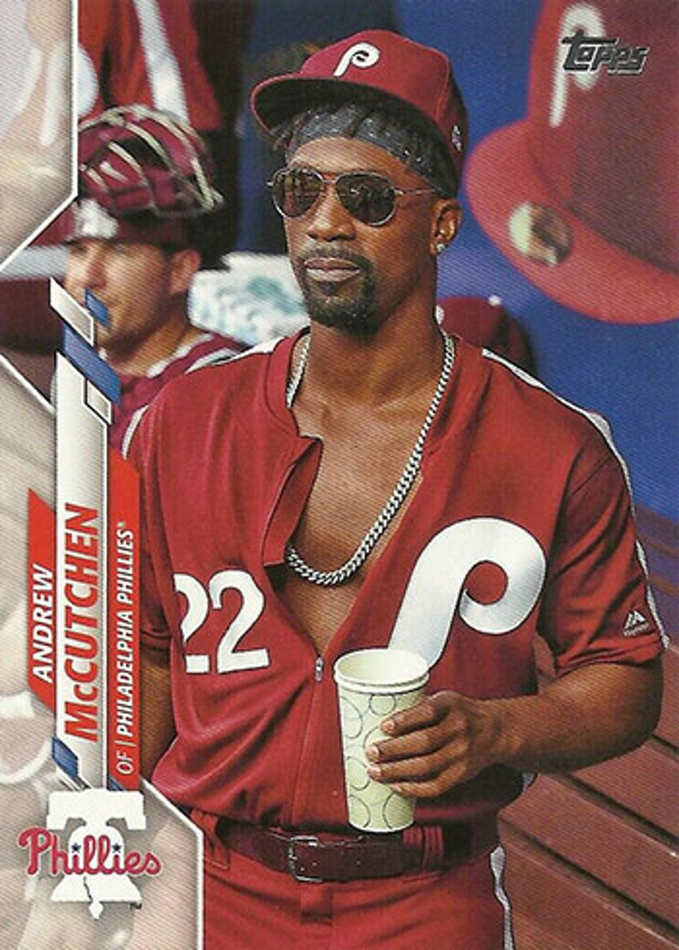 2020 Topps Series 2 Andrew McCutchen SP variation card.