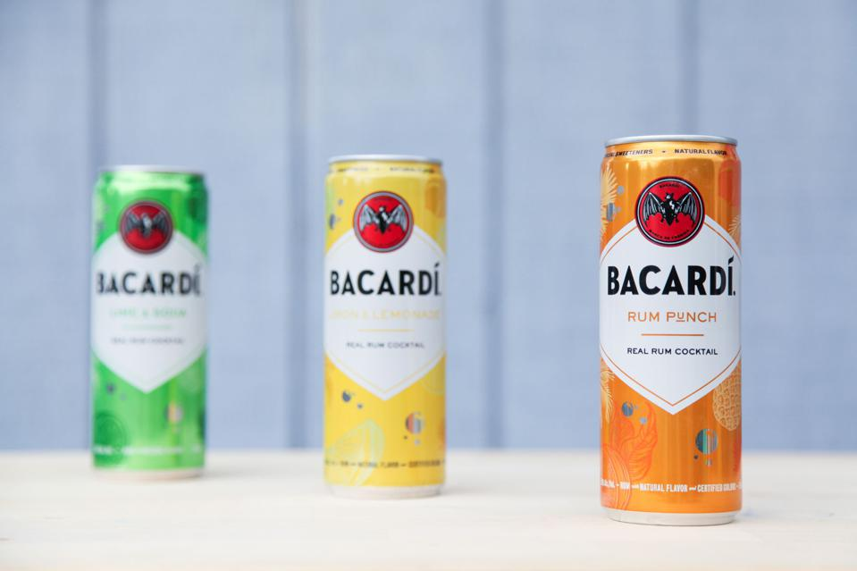 BACARDI debuted a new line of canned cocktails.