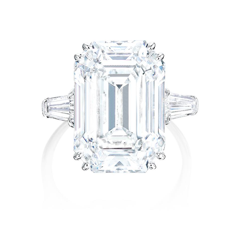 Harry Winston 12.55-carat vintage diamond ring. Its estimate is $850,000 - $1.1 million