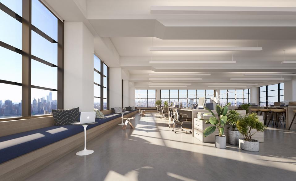 rendering of office interior