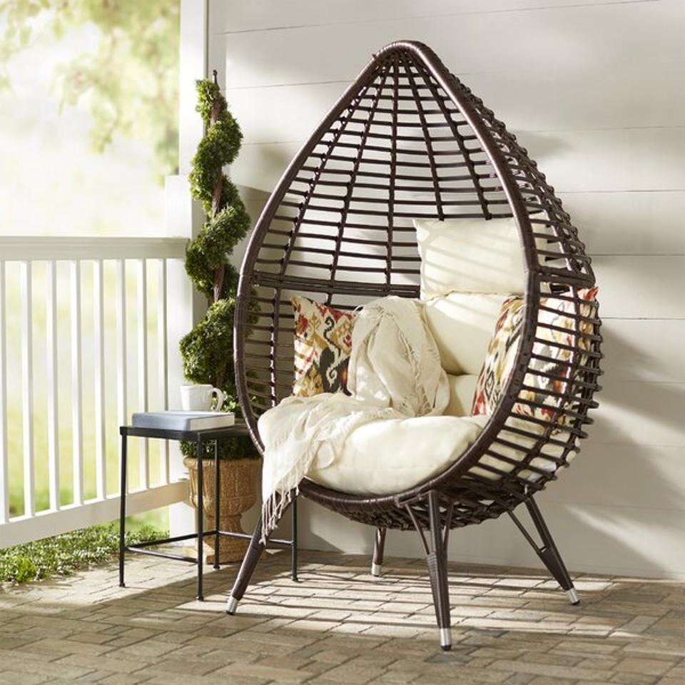 Langley Street Teardrop Patio Chair with Cushions