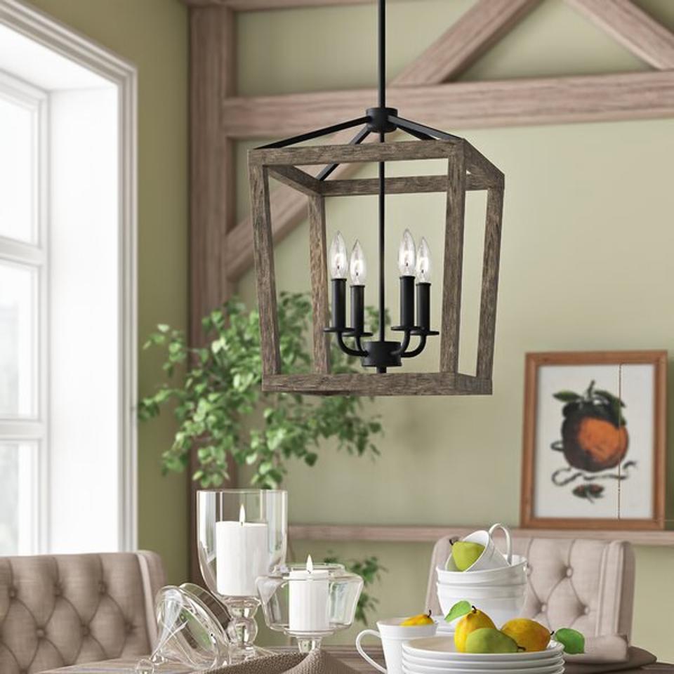 Birch Lane Heritage 4 - Light Lantern Geometric Chandelier
