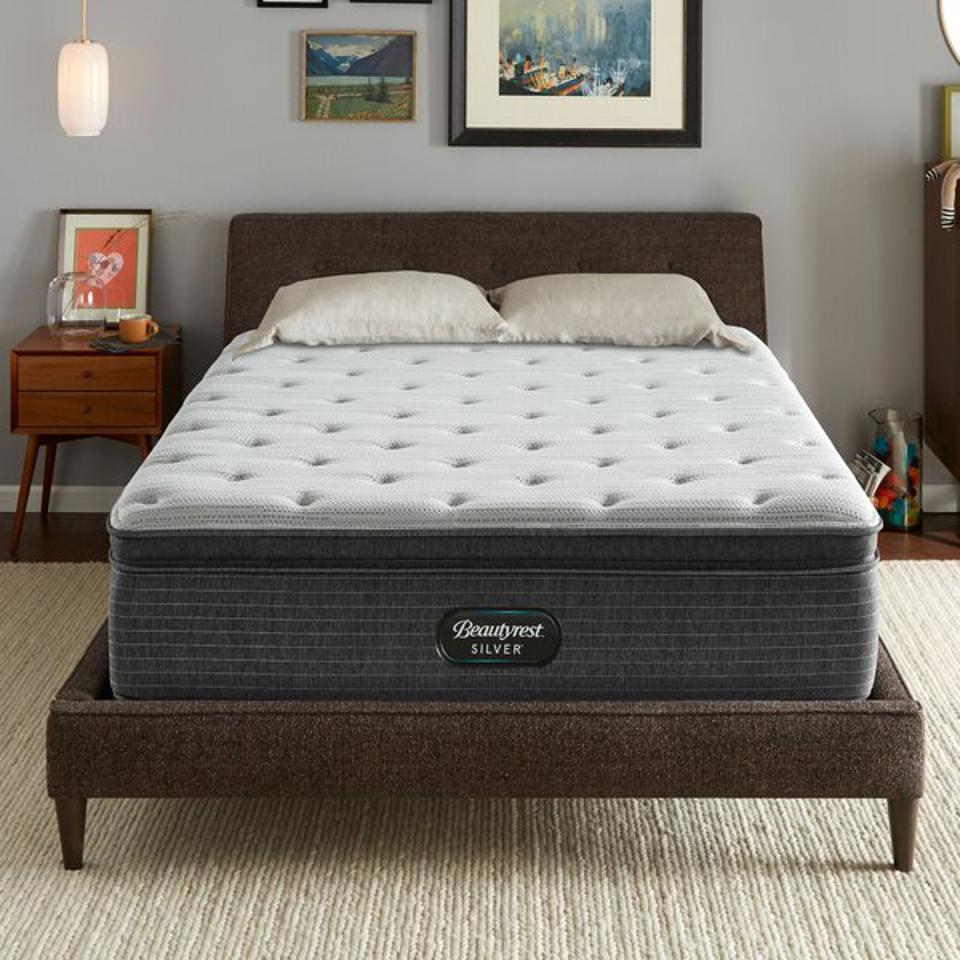Beautyrest Silver 15″ Medium Pillow Top Mattress and Box Spring