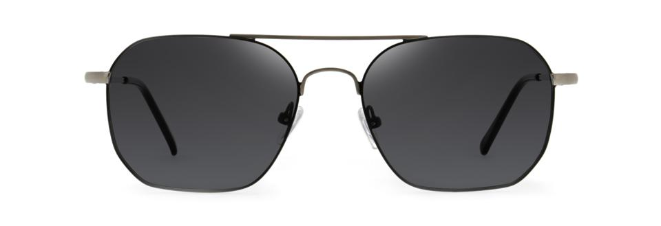 Atlas, in the color Noir, are a sleek, geometric play on the classic aviator shape.