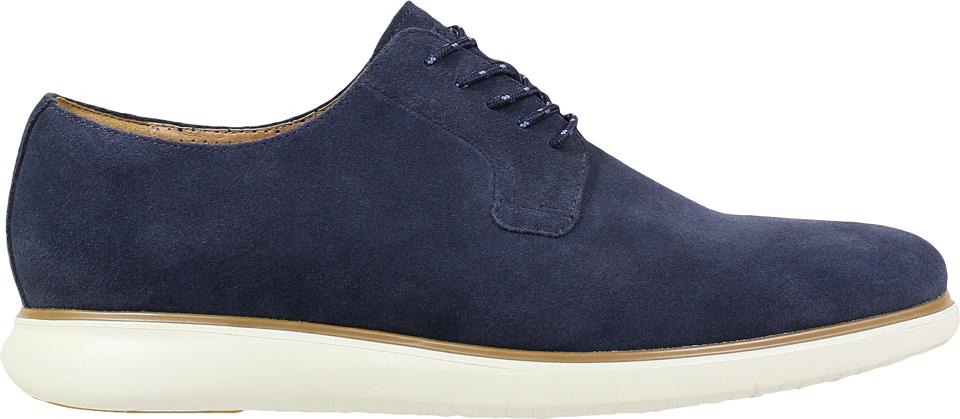 Fuel 5-Eye Plain Toe Oxford in Navy Suede from Florsheim