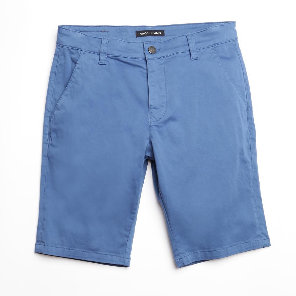 Jacob Bright Cobalt Sateen Twill Shorts from Mavi
