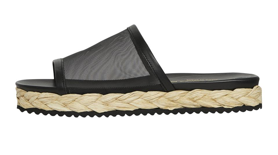 The Phoebe sandal from Andre Assous in black.