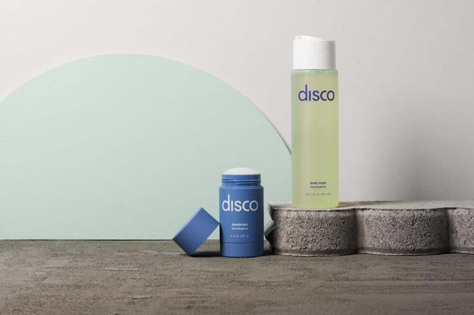 Disco skincare's Body Set includes their best-selling Body Wash and aluminum-free Deodorant