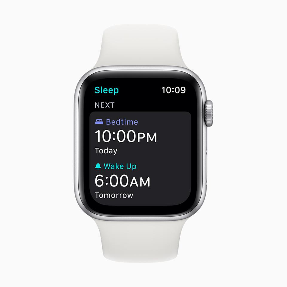 Sleep tracking on Apple Watch in watchOS 7.