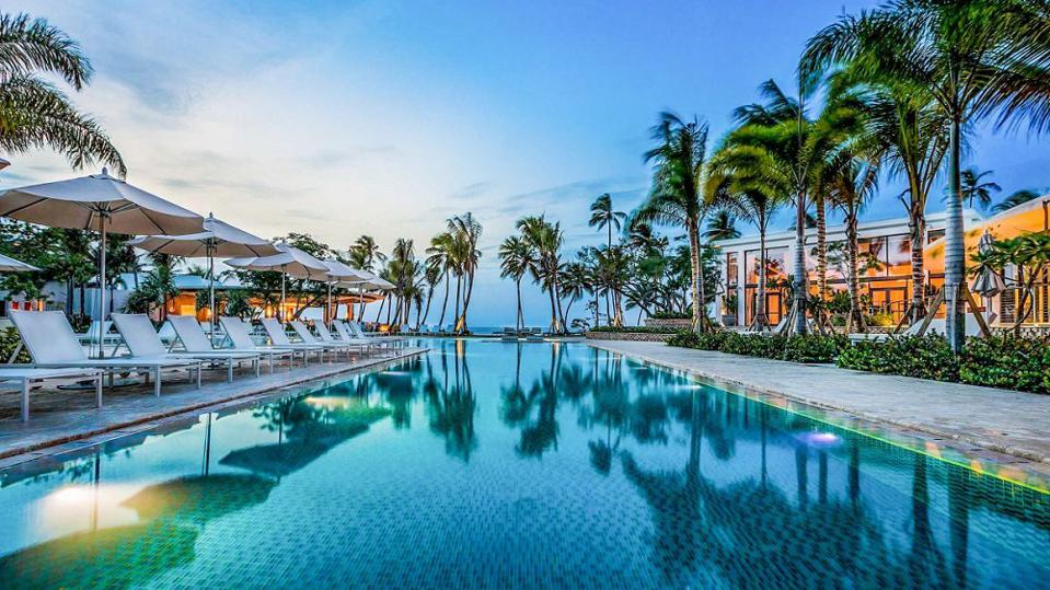 Beach and pool club at Ritz-Carlton Reserve Puerto Rico.