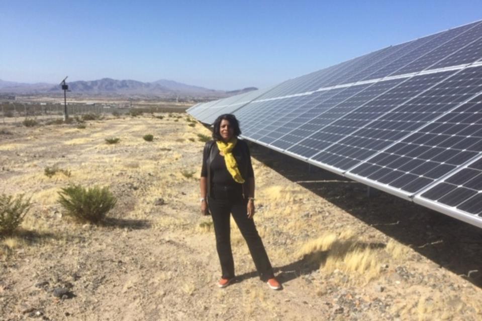 Rose McKinney-James, Community Solar project, Pahrump, Nevada.