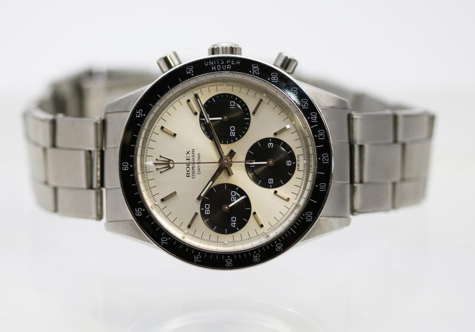 A Rolex Daytona reference 6239 from the 1960s is a standout piece from the Iconic Sports Models sale