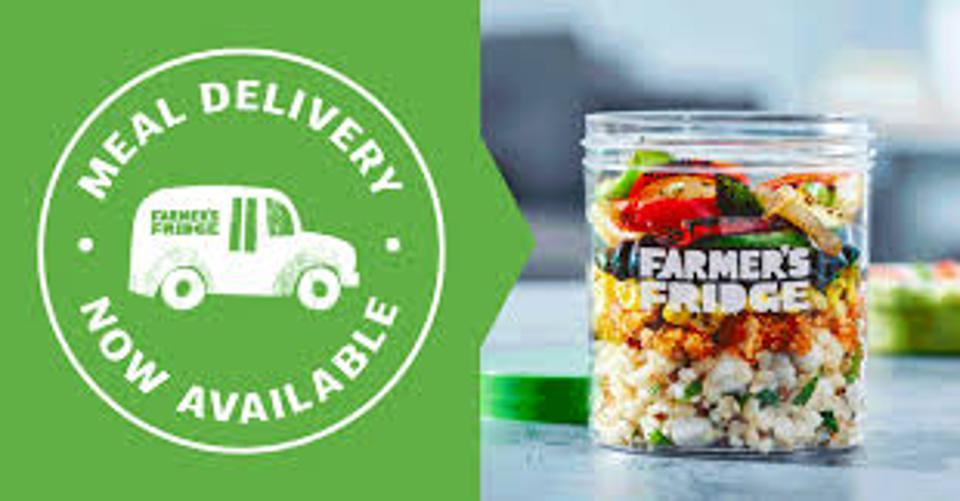 Farmer's Fridge promotes meal delivery