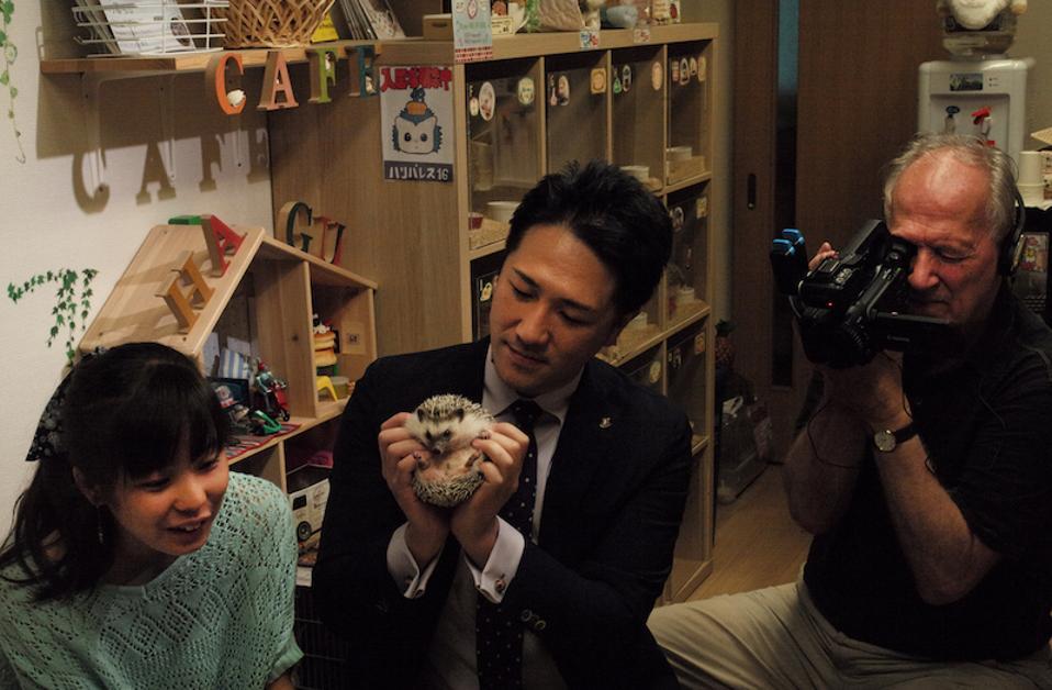 Mahiro, Yuichi Ishii and Werner Herzog in 'Family Romance.'